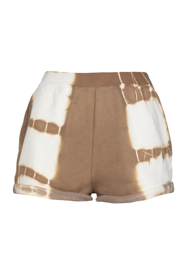SWEAT SHORTS Camel Tie Dye