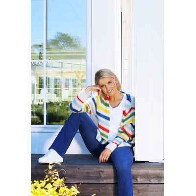 Elise genser Multi Pastel Stripes Sweater