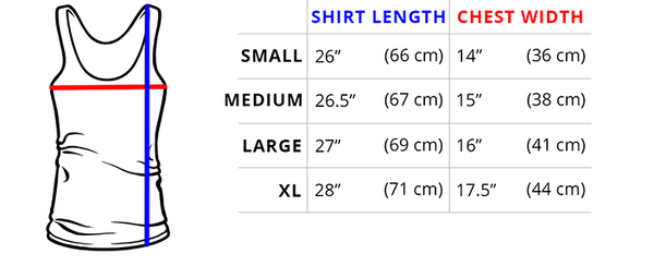 WOMEN'S TANK TOP MEASUREMENTS This tank's fit is similar to our Women's Ultra Slim (Juniors) Shirt!