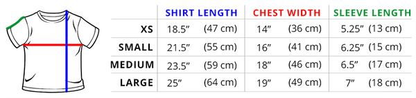KIDS SHIRT MEASUREMENTS This fit is perfect for the youngest TeeTurtle fans!