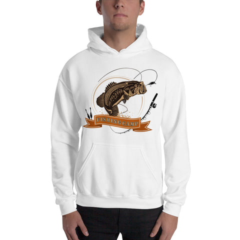 Bass fishing hooded sweatshirt mens