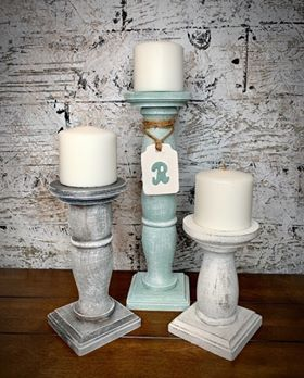 January 11th | 1:00 - 3:00 | Farmhouse Candle stick trio with monogram tag