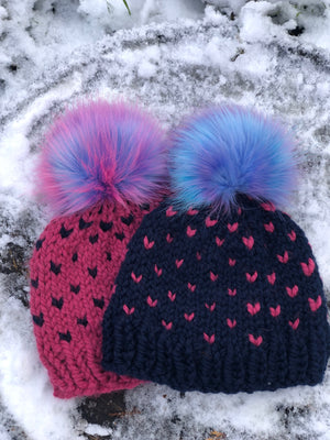 Chunky Knit Child's Hat with Magical Unicorn Pom