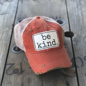 Be Kind Trucker Hat - Trucker Hat orange