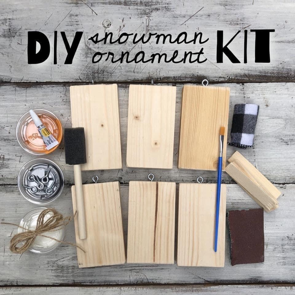 Christmas DIY Kit - Six Snowman Ornaments
