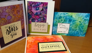 April 30th | 6:30 - 8:30 | Alcohol Ink Greeting Cards