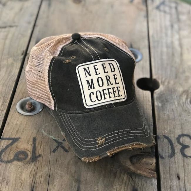 Need More Coffee Trucker Hat - Charcoal - Trucker Hat