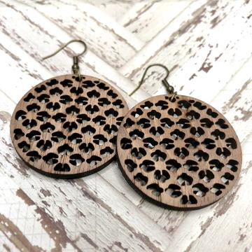 Lightweight Laser Cut Earrings: NobHill
