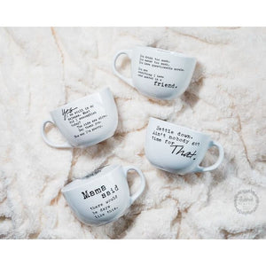 Over Sized Coffee or Soup Stoneware Mug (Various Sayings) - Mug