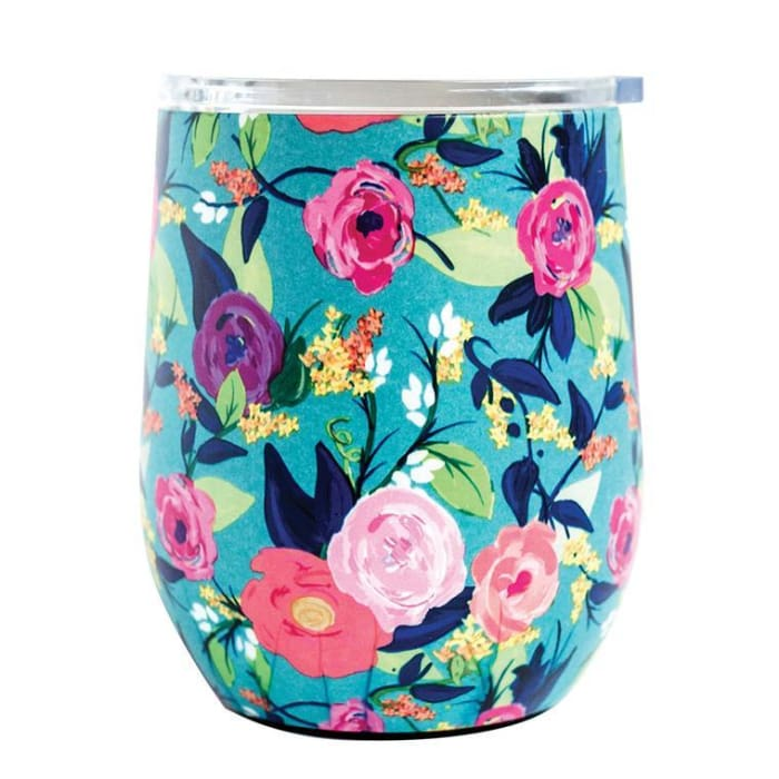 Floral Stainless Drink Travel Tumbler (Multiple Styles) - Nantucket