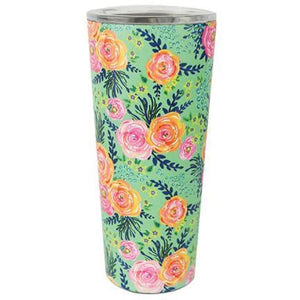 Floral Stainless Coffee Travel Tumbler - Madison