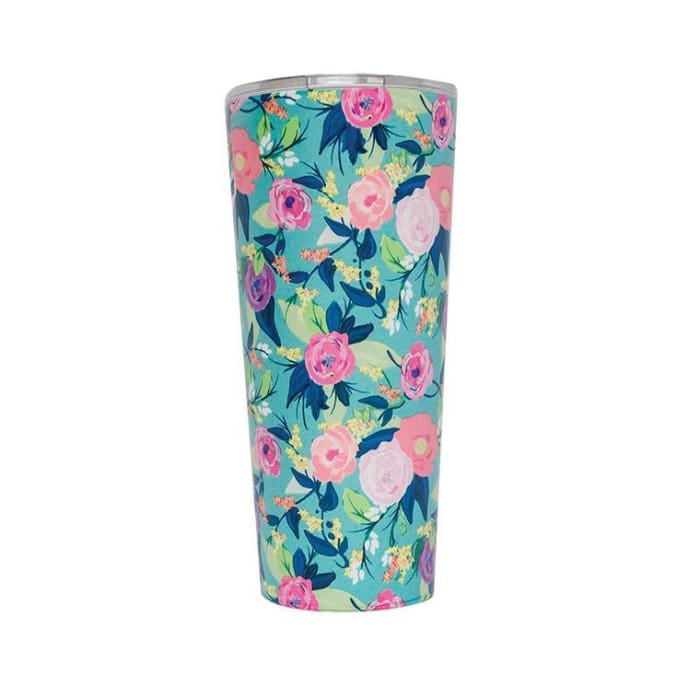 Floral Stainless Coffee Tumbler  - Nantucket