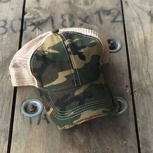 Wisconsin Girl Trucker Hat - Camo - Trucker Hat