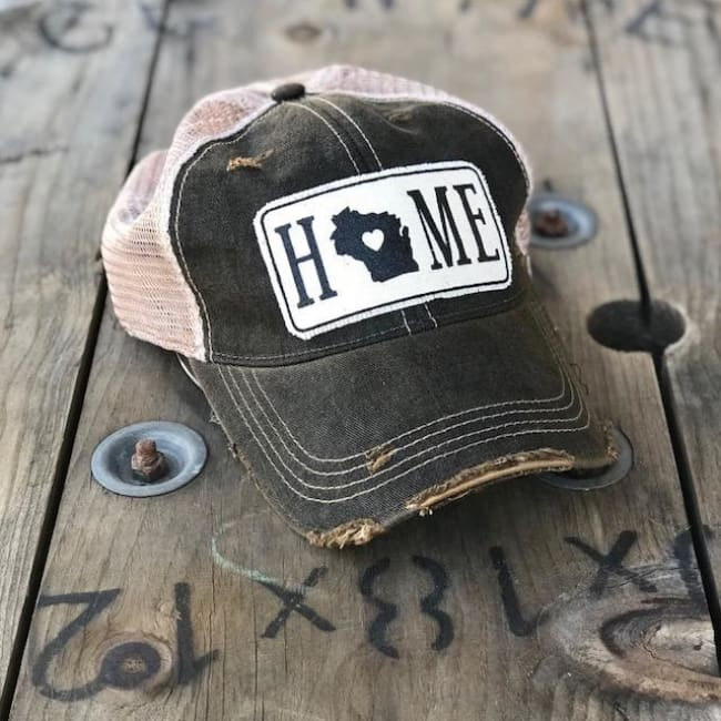 Wisconsin Home Trucker Hat - Charcoal - Trucker Hat