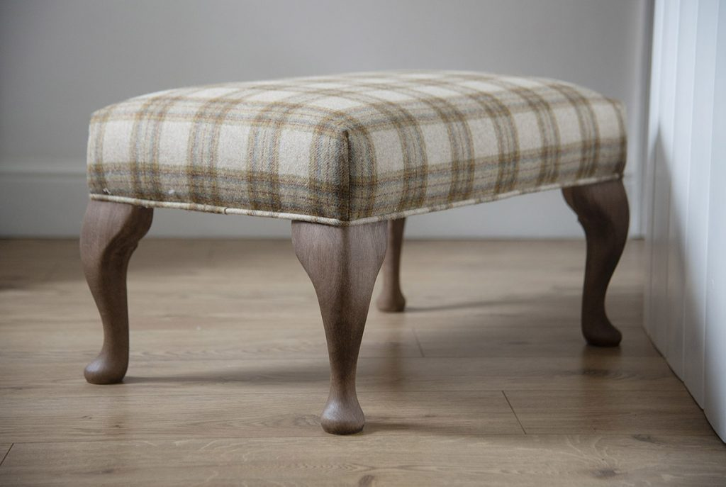 Handmade footstool & ottoman - crafted in Scotland