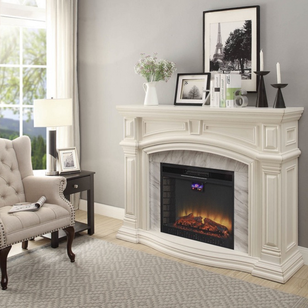 White Grande with Marble Surround
