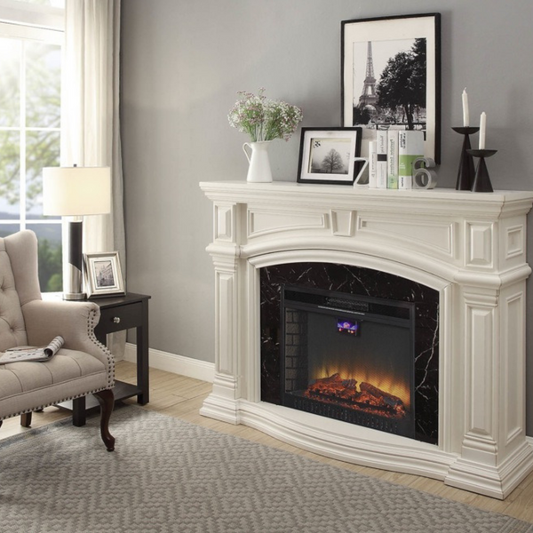 White Grande with Black Surround