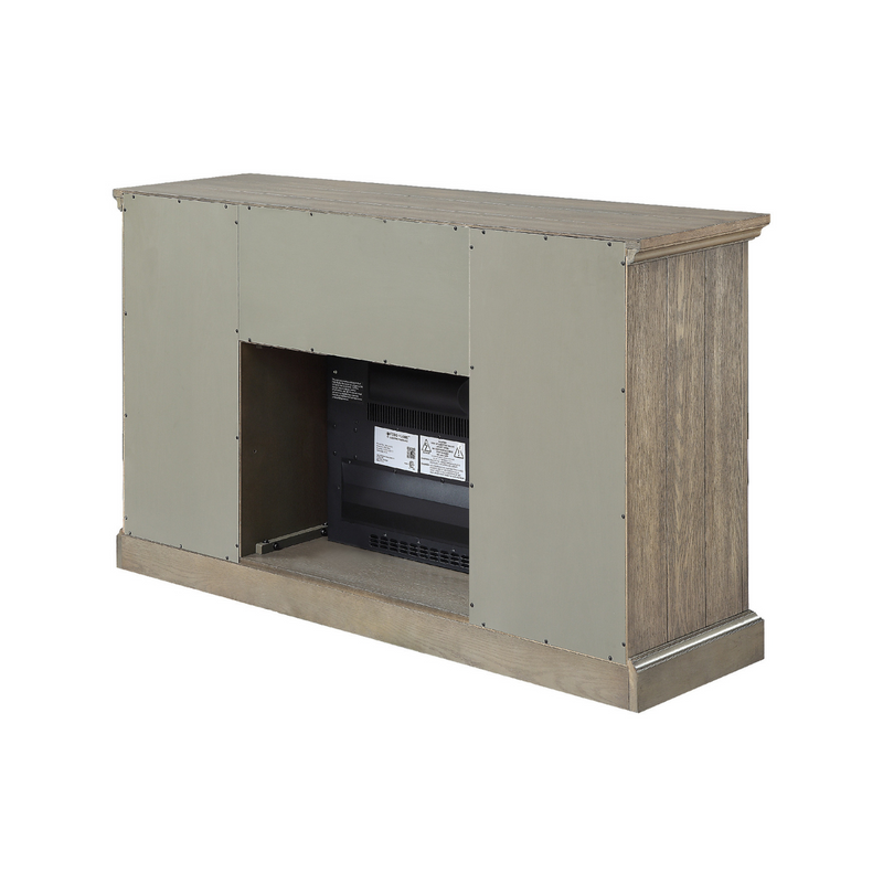 Clayton TV Stand with Electric Fireplace Gray