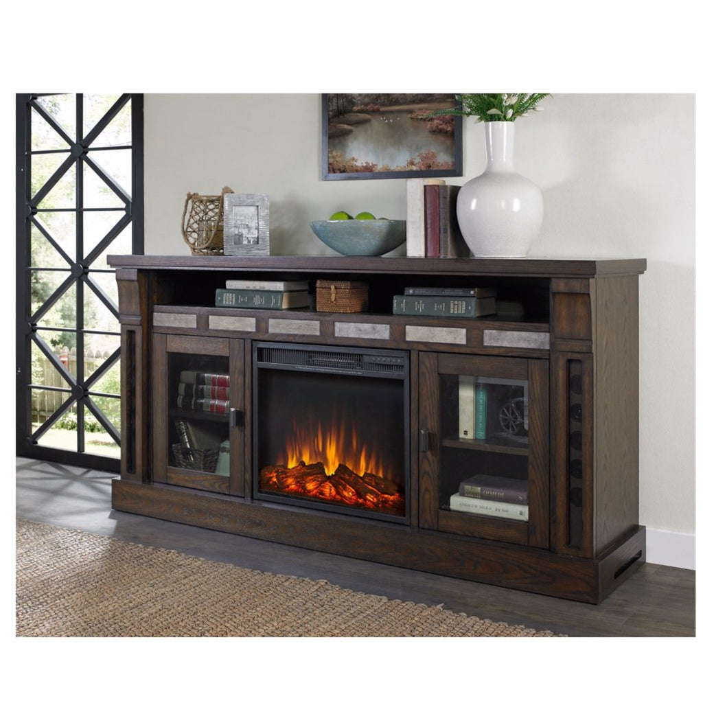 Maryanne Electric Fireplace And 2.1 Sound System Console