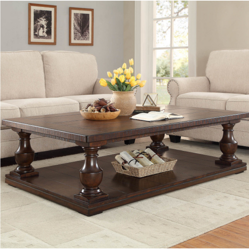 Weldon Pedestal Coffee Table