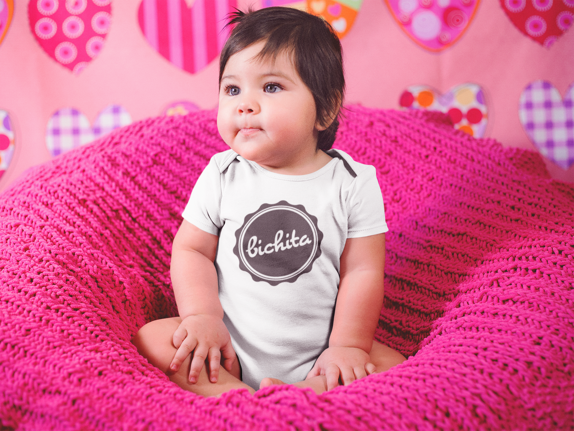 Bichita T-Shirt, Baby one piece, El Salvador Clothing, baby-girl shirt, Sivar clothes, - SIVAR ESTILO