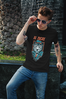 El Tigre, Short-Sleeve Unisex T-Shirt, Nickname t shirt, white tiger, El Salvador clothing - SIVAR ESTILO