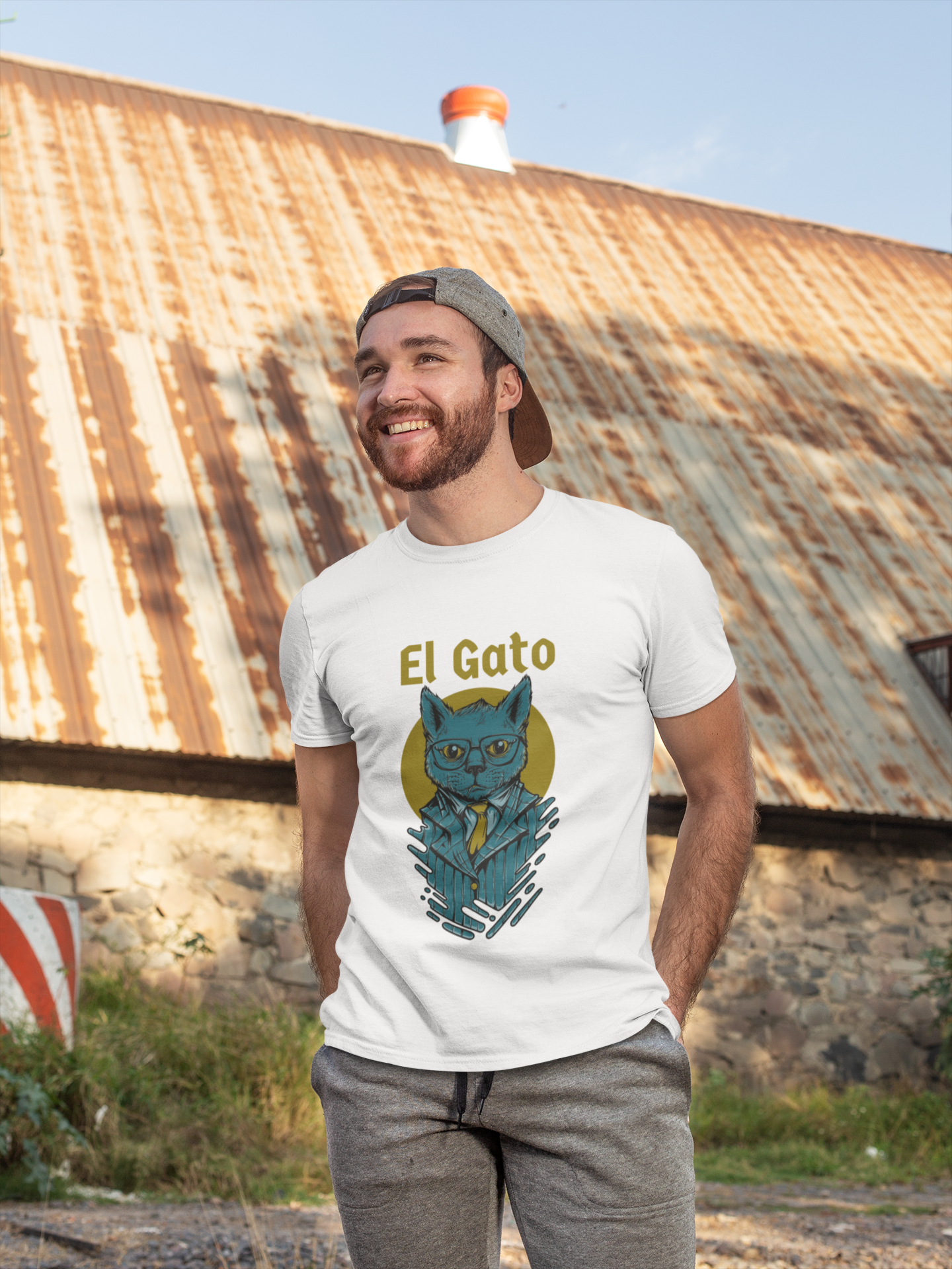 El Gato,Short-Sleeve T-Shirt, The Cat, Nicknames tee | SIVAR ESTILO