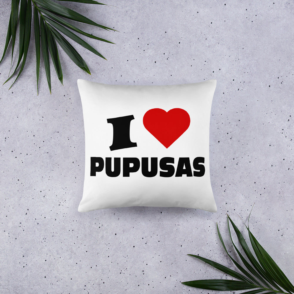I Love pupusas, El Salvador apparel, Basic Pillow, Decorative - SIVAR ESTILO