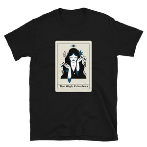 The High Priestess, Tarot Card, Urban Style Unisex T-Shirt - SIVAR ESTILO