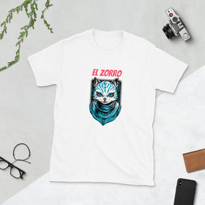 El Zorro t shirt, The fox, Short-Sleeve Unisex T-Shirt, hipster, nicknames - SIVAR ESTILO