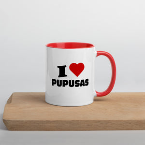 Taza, I Love Pupusas, Mug with Color Inside | SIVAR ESTILO