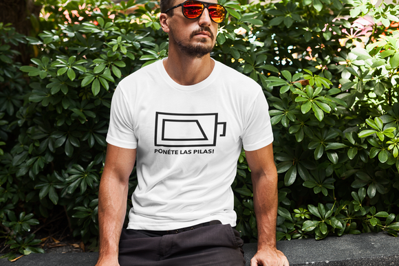 Ponete las pilas, Urban style, Men's Fitted Short Sleeve Tee - SIVAR ESTILO