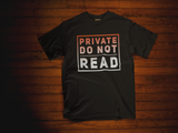Private Do not Read, El Salvador Clothing, Camiseta de manga corta unisex - SIVAR ESTILO
