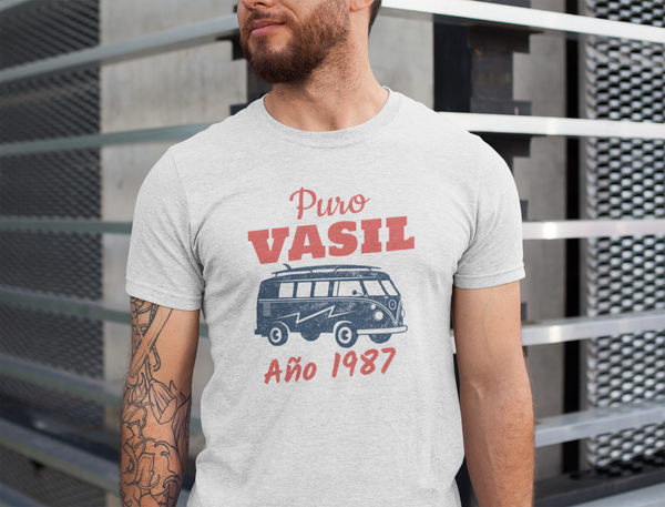 Puro Vasil 1987, Urban Style shirt, Street Fashion, 80's collection,  Personalizable - SIVAR ESTILO