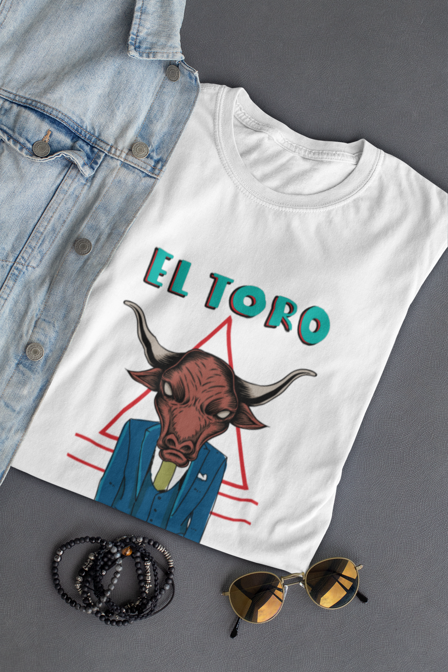 El Toro, Mad Face, The bull, Short-Sleeve Unisex T-Shirt | SIVAR ESTILO