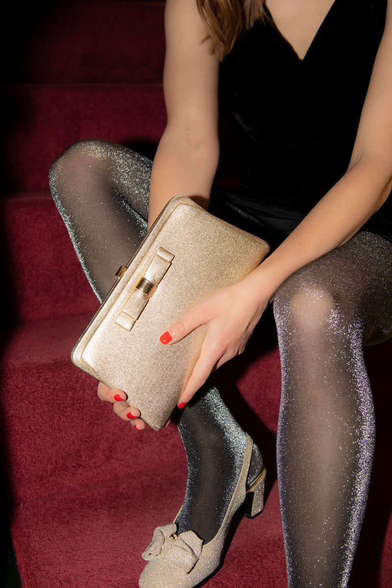 Anita is Vintage 50s Metallic Mini Bag