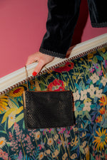 Anita is Vintage 60s Black & Gold Bead Mini Bag