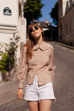 Anita is Vintage 60s Ditsy Floral Blouse