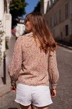Anita is Vintage 60s Ditsy Floral Blouse back