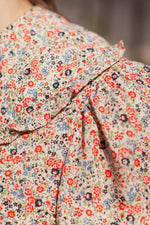 Anita is Vintage 60s Ditsy Floral Blouse close up