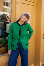 Anita is Vintage 60s Green Cardigan