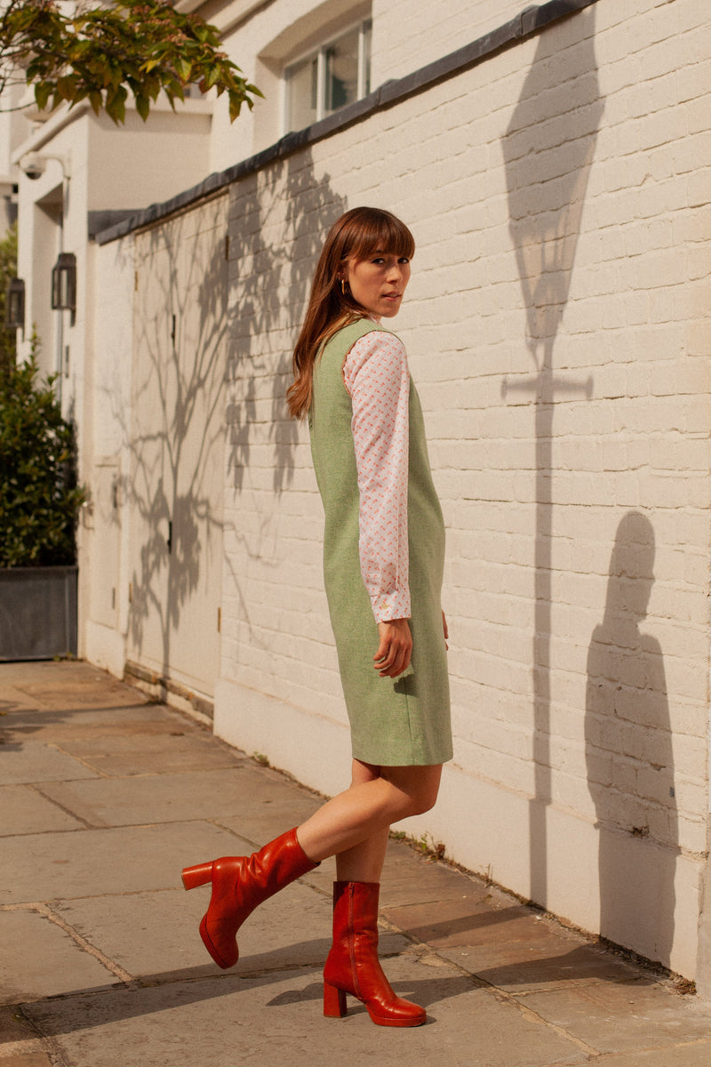 Anita is Vintage 60s Green Mini Dress