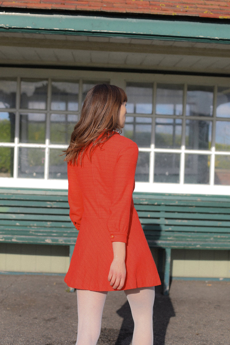 Anita is Vintage 60s Orange Mini Dress
