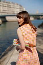 Anita is Vintage 60s Pink & Orange Gingham Dress