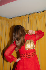 Anita is Vintage 60s Red Sequin Mini Dress
