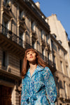 Anita is Vintage 60s Turquoise Floral Blouse & Mini Dress