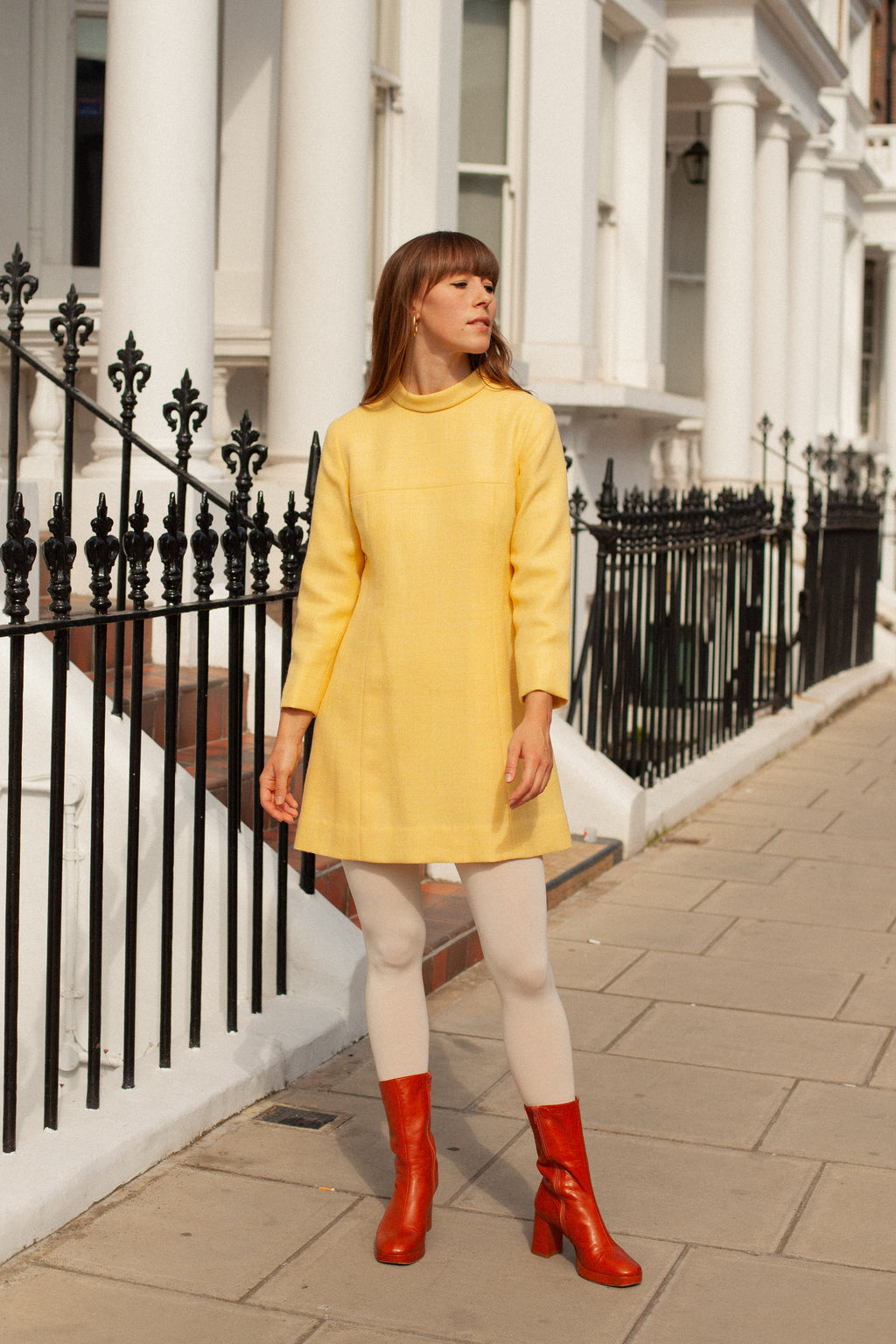 Anita is Vintage 60s Yellow Mini Dress