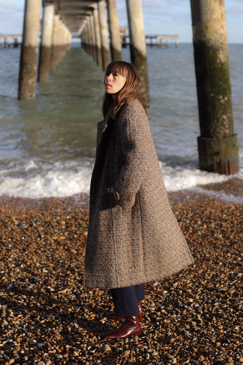 Anita is Vintage 70s Aquascutum Brown Wool Coat