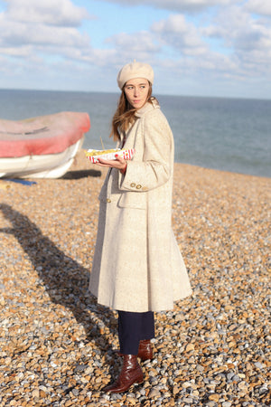 Anita is Vintage 70s Aquascutum Cream Wool Coat