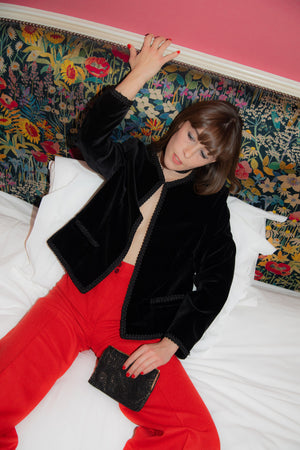 Anita is Vintage 70s Black Velvet Jacket